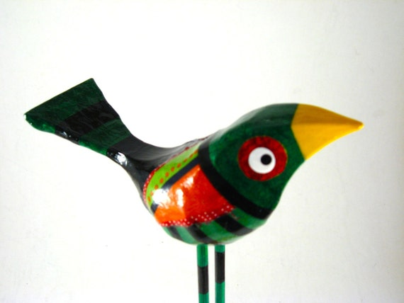 Mixed Media XL Carved Bird