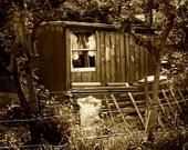 Idyllic shed - A4 - Sepia style print
