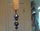 Wine Cork Fan Pull with Vintage Beads and Charm