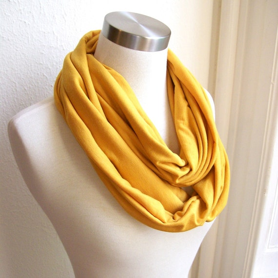 circle scarf in mustard yellow by pinktoad on etsy