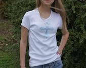 Turquoise Stud Cross Tee Shirt