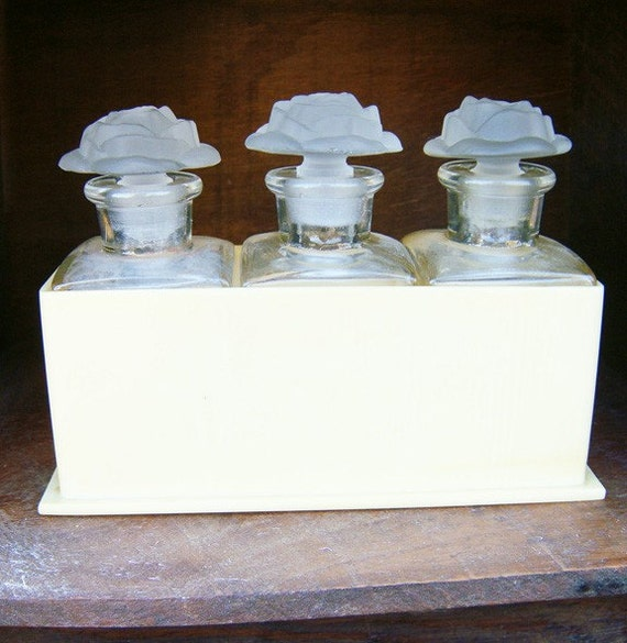 Rose Perfume Bottles in a Celluloid Base