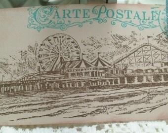 Vintage Seadside Pier Gift Tags....Set of 6ECS