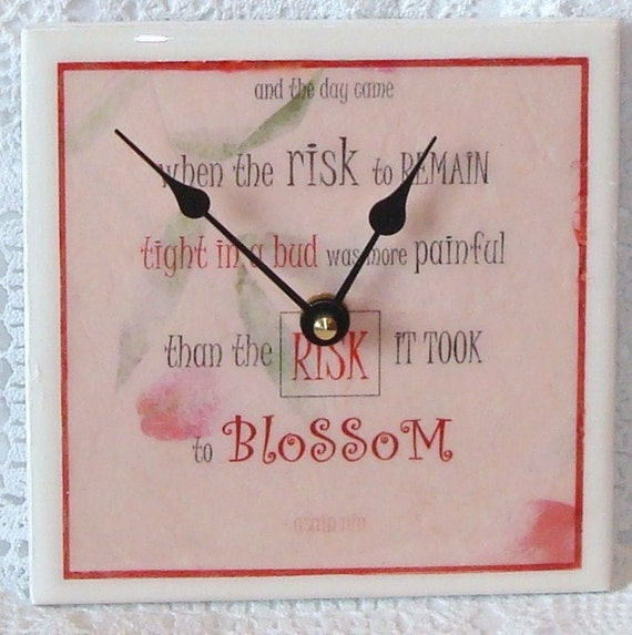 Quote on Tile Wall Clock No. 426 (6 inches)