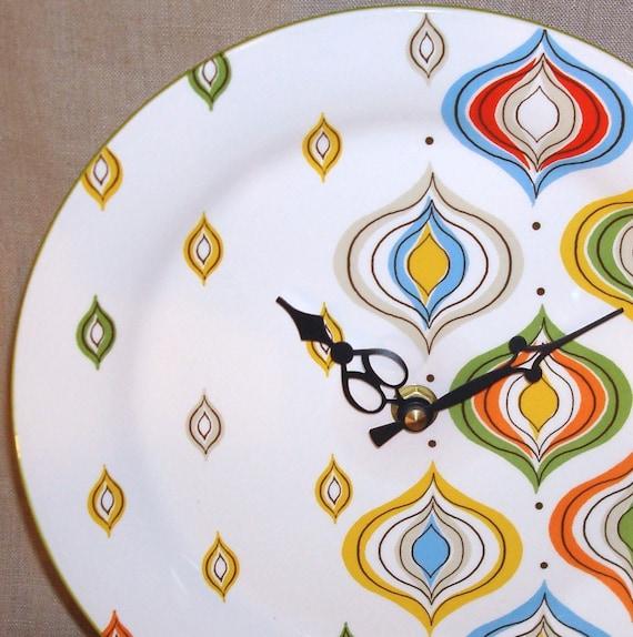 Wall Clock - Retro Ornament Ceramic Plate Wall Clock No. 856 (9 inches)