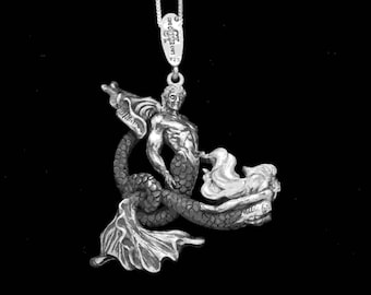 MERMAN and MERMAID PENDANT