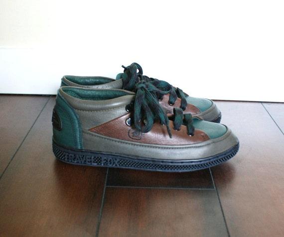 Size 6 Women S Travel Fox Leather Sneakers Hunter Green
