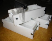 2-3 hdpe Soap Cutter & No Liner Molds Wooden Lids Aval.  E