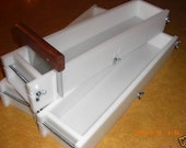 5/6 Lb Hdpe No Liner SOAP MOLD, MOLDS and Bar Cutter, wooden wood lids avail. E