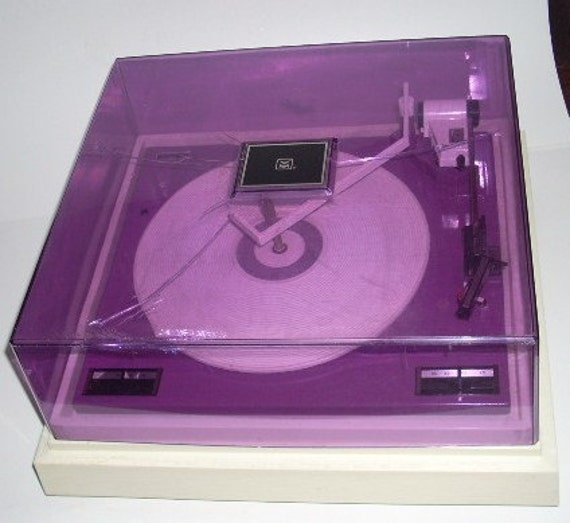 Vintage Vm Voice Of Music Purple Record Player Bsr