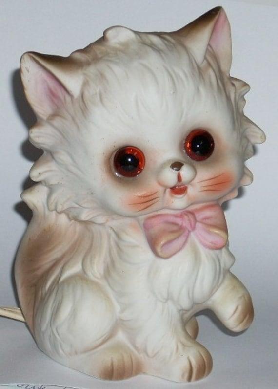 Josef Original Kitty Cat Figurine Night Light