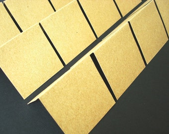 Blank Mini Cards - 2x2 Note Cards - Kraft (Set of 25)