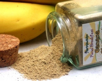 Organic Banana Facial Scrub Sample Natural and eco-friendly vegan cleanser Facial Breakfast Series