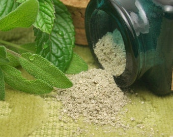 Organic Peppermint Sage Facial Cleansing Grains scrub polish natural SAMPLE