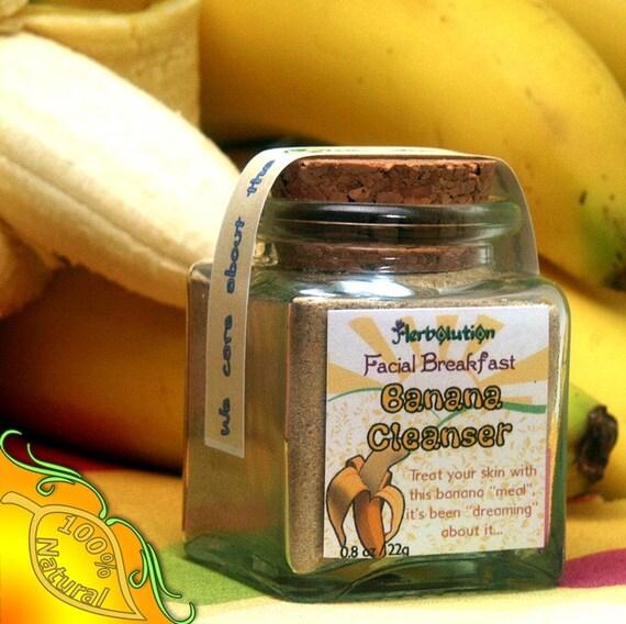 Organic Banana Face Scrub Natural and eco-friendly facial breakfast no soap vegan cleanser