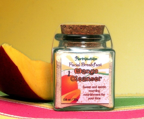 Organic Mango Face Scrub Natural and eco-friendly facial breakfast no soap vegan cleanser