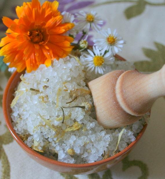 Organic Calendula Chamomile Bath Soak with Dead Sea Salt 22 oz Eco-firendly and Natural relaxing gift
