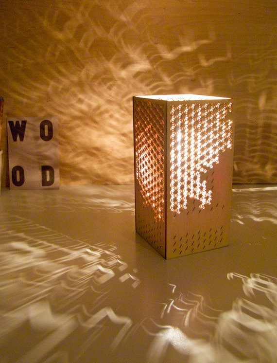 Items Similar To Laser Cut Lamp Japanese Clouds On Etsy