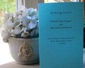 Simple and elegant wedding programs