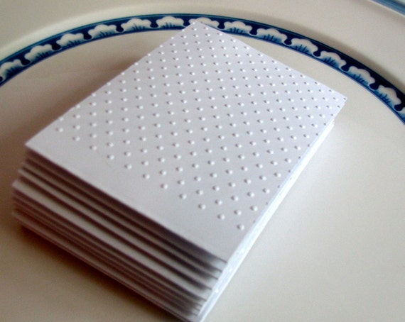 15 Embossed Business card Holders / Thank You Cards