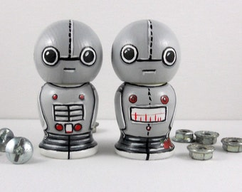 Robot Wedding Cake Toppers Kokeshi Doll Couple