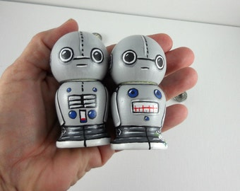 Robot Wedding Cake Topper Kokeshi Dolls
