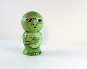Goblin Kokeshi Doll -Wooden Handpainted