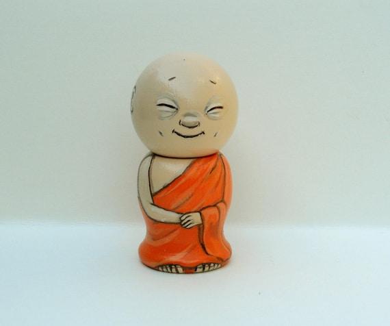 Enlightened One Buddah Kokeshi Doll