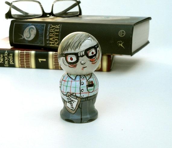 Nerd Zombie Kokeshi Doll