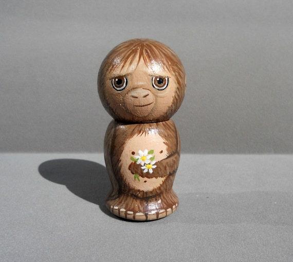 Sasquatch Bigfoot  Kokeshi Doll