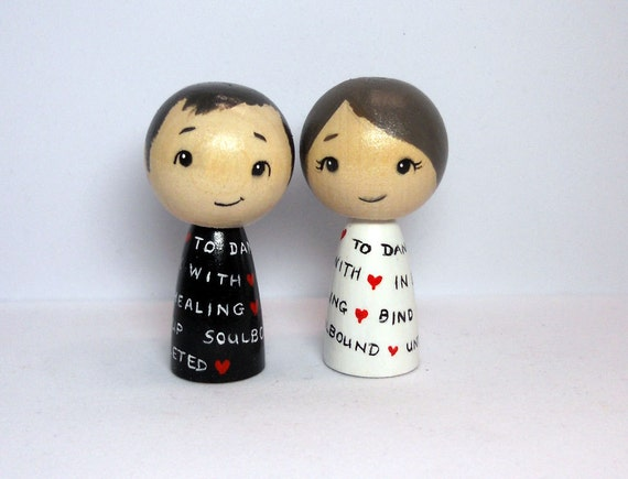 Nerd Gamer Wedding Cake Toppers with WOW Vows