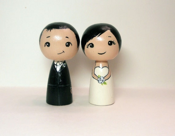 Black Haired Wedding Toppers