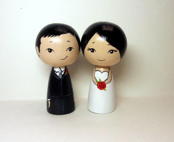 Asian Wedding Toppers Black Hair