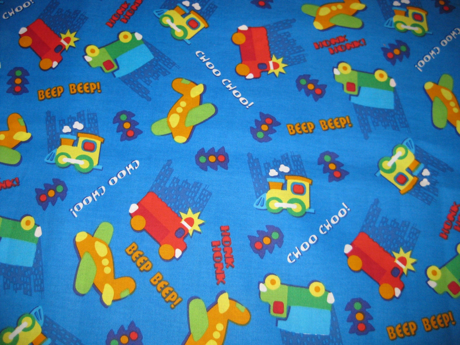 For sara 2 yards of cotton fabric transportation train for Kids train fabric