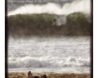 Vintage beach day. Mixed Media Print. Fine Art Photography.