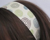 Cream w/ Swirls - Stay In Place Headband