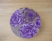 Wooden Screenprinted Floral Brooch