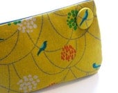 yellow clutch purse