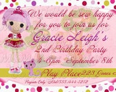 Lalaloopsy Personalized Printable Birthday Invitation and Thank you Set
