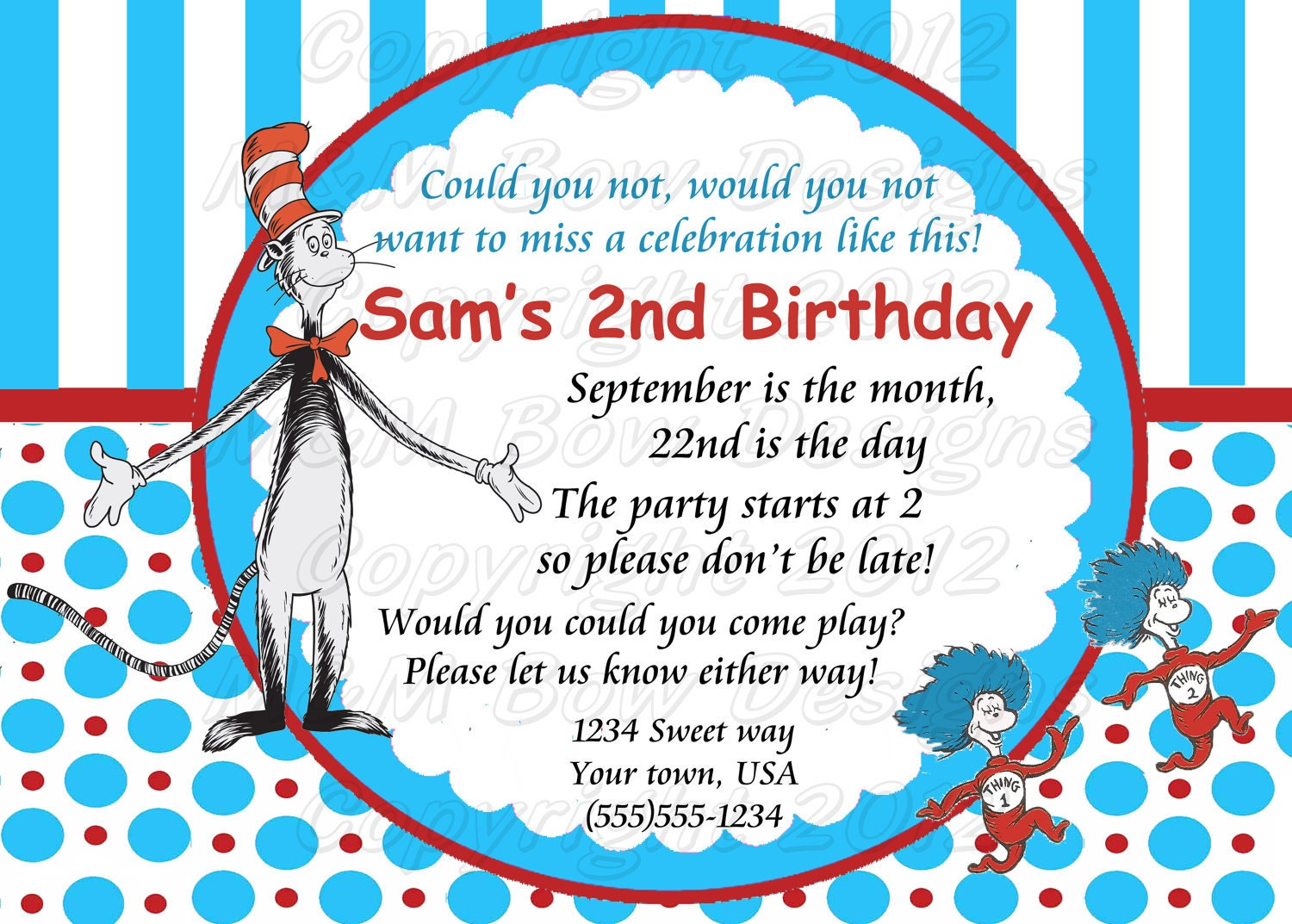 Ultimate Party Pack Dr Seuss The Cat in the Hat DIY Birthday – Cat in the Hat Party Invitations