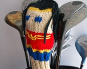 Wonder Woman, Justice League, Knit, Golf, Club Cover, Headcover, Head Cover, Gifts for Men, Golf GIfts, Crochet, Superhero