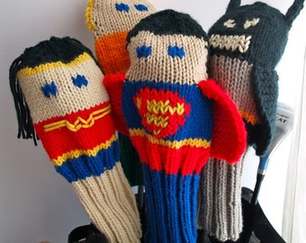 Knit PATTERN Justice League Golf Club Cover Collection PDF