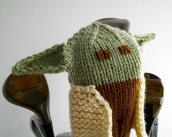 Yoda Golf Headcover, Star Wars Golf Club Cover, Yoda Golf Head Cover, Yoda Golf Club Cover, Knit Golf Head Cover, The Force Awakens