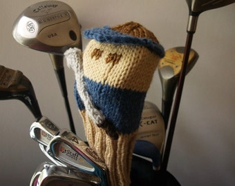 Knit PATTERN Golfer Golf Club Cover PDF
