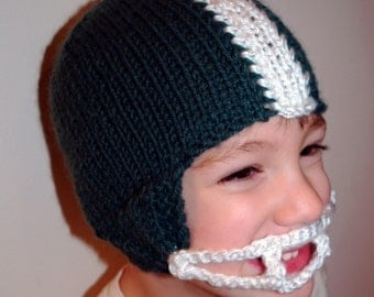 Knit PATTERN Football Helmet Hat PDF