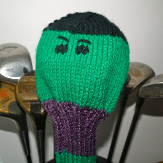 Knitting Pattern Golf Driver Cover : Knit PATTERN Golf Club Cover Marvel Collection PDF from TraceyKnits on Etsy S...
