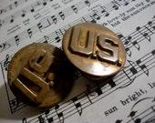 2 Vintage US Army Military Pins