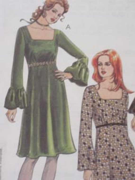 CLASSIC LOOK Vintage Style Empire Waist Dress Pattern Size 12-14-16-18