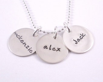 Hand Stamped Personalized Sterling Silver Necklace