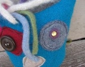 Lavendar Rae 3 - Recycled Felted Wool Softie Owl